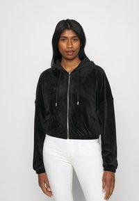 ONLY - ONLLAYA - Zip-up hoodie - black - 0