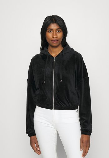 ONLLAYA - Zip-up sweatshirt - black