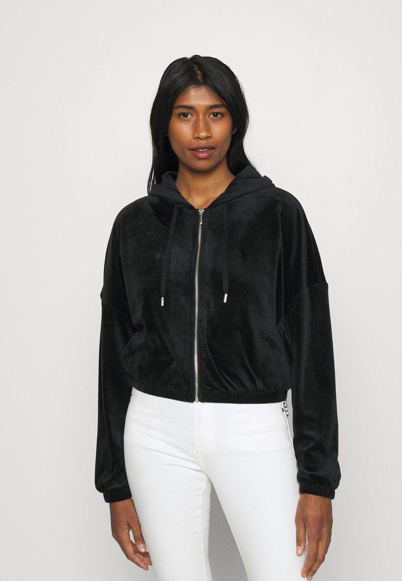 ONLY - ONLLAYA - Zip-up hoodie - black