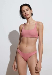 OYSHO - RECYCLED PIQUÉ CLASSIC - Bikini bottoms - light pink - 1