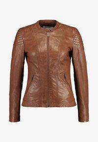 NAF NAF - CLIM - Leather jacket - cognac - 4