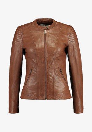 CLIM - Leather jacket - cognac