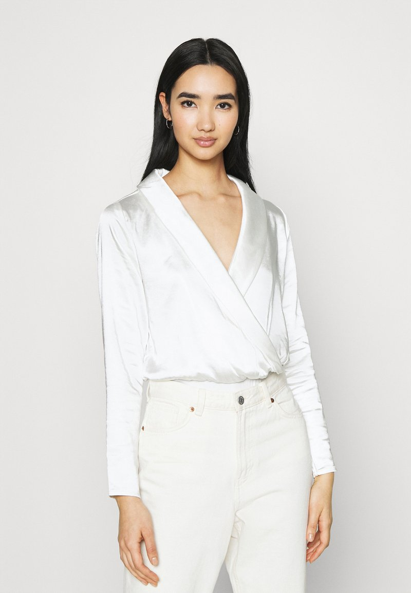 4th & Reckless - COLLINS BODYSUIT - Blouse - white