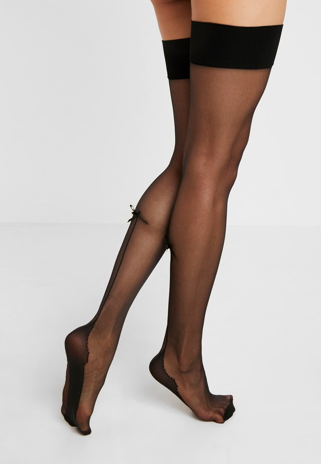 BOW BACK SEAMED STOCKINGS - Zakolanówki - black
