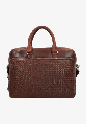 WOVEN AKTENTASCHE  - Mallette - british tan