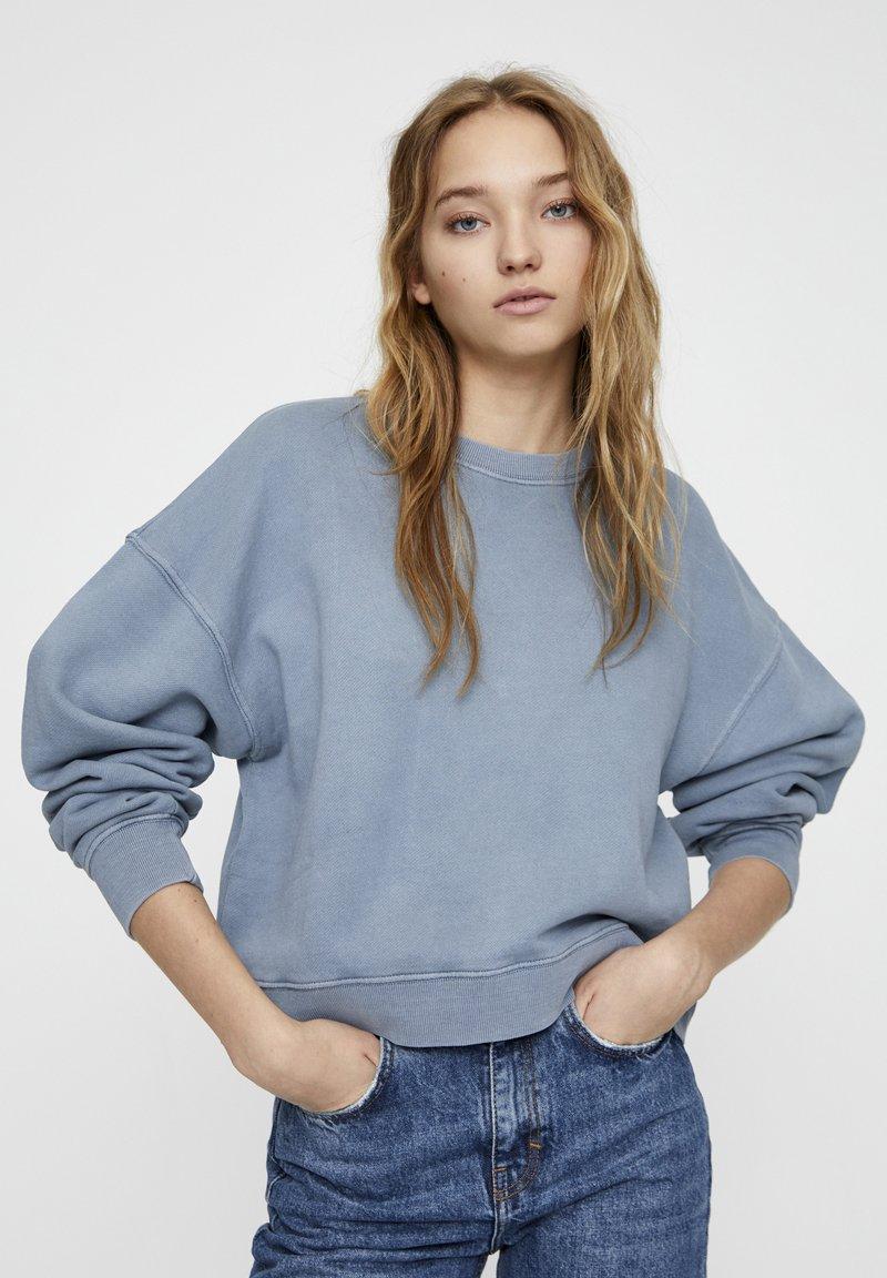 PULL&BEAR - MIT LANGEN ÄRMELN - Sweatshirt - blue