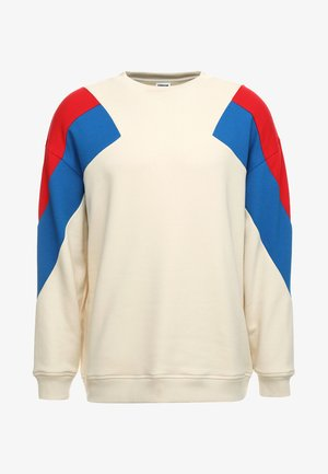 OVERSIZE 3-TONE CREW - Sweater - sand/firered/brightblue