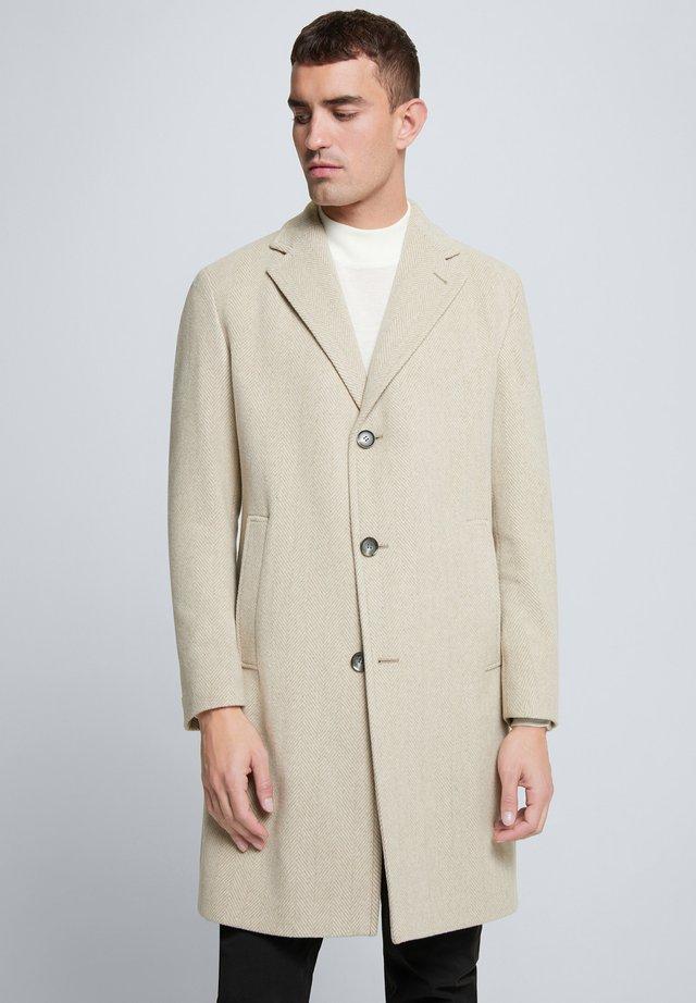 Mantel - beige gemustert