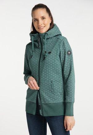 NESKA PRINT ZIP UPGRADE - Zip-up sweatshirt - dark green