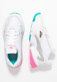 adidas Originals - FALCON - Trainers - footwear white/solar pink/silver metallic - 5