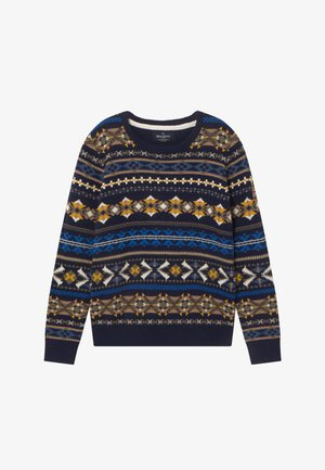 FAIRISLE CREW - Jumper - navy