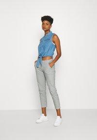 Pepe Jeans - MAURA STRIPE - Spodnie materiałowe - blue/white - 1
