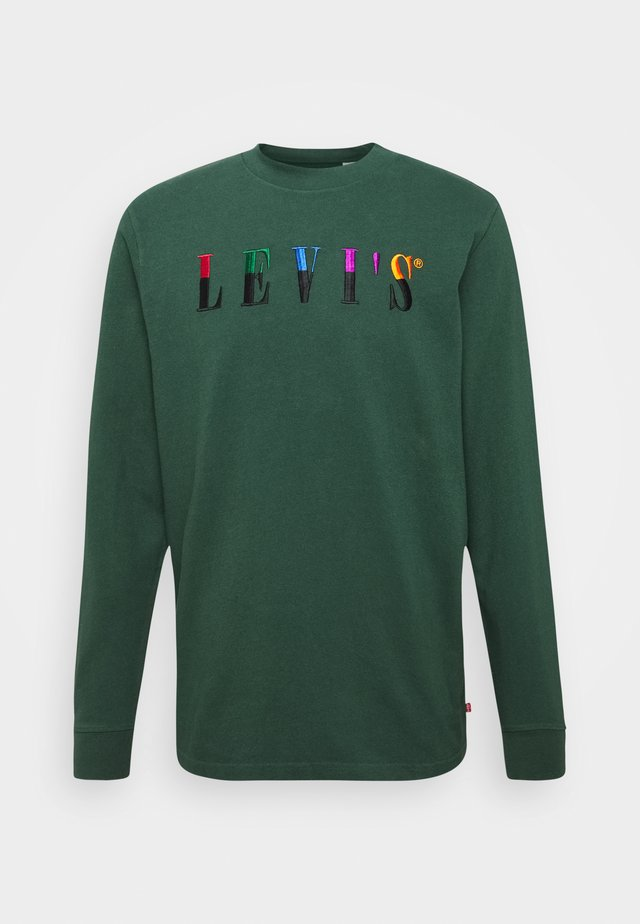 LS GRAPHIC MOCKNECK TEE UNISEX - Long sleeved top - ssnl serif ls sycamore