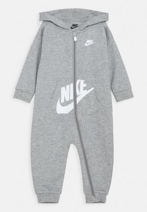HOODED BABY COVERALL UNISEX - Mono - grey heather