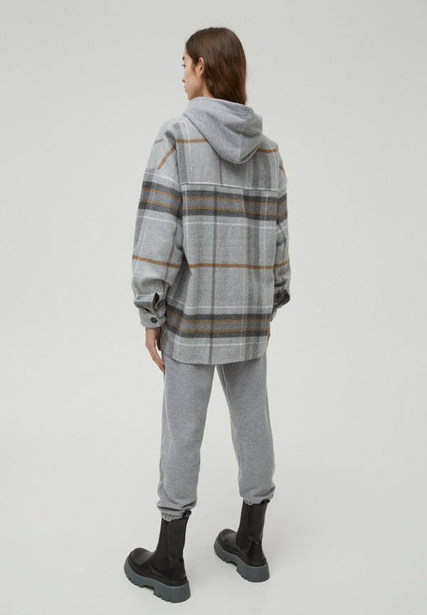 PULL&BEAR Koszula - mottled grey/szary melanż ANBX