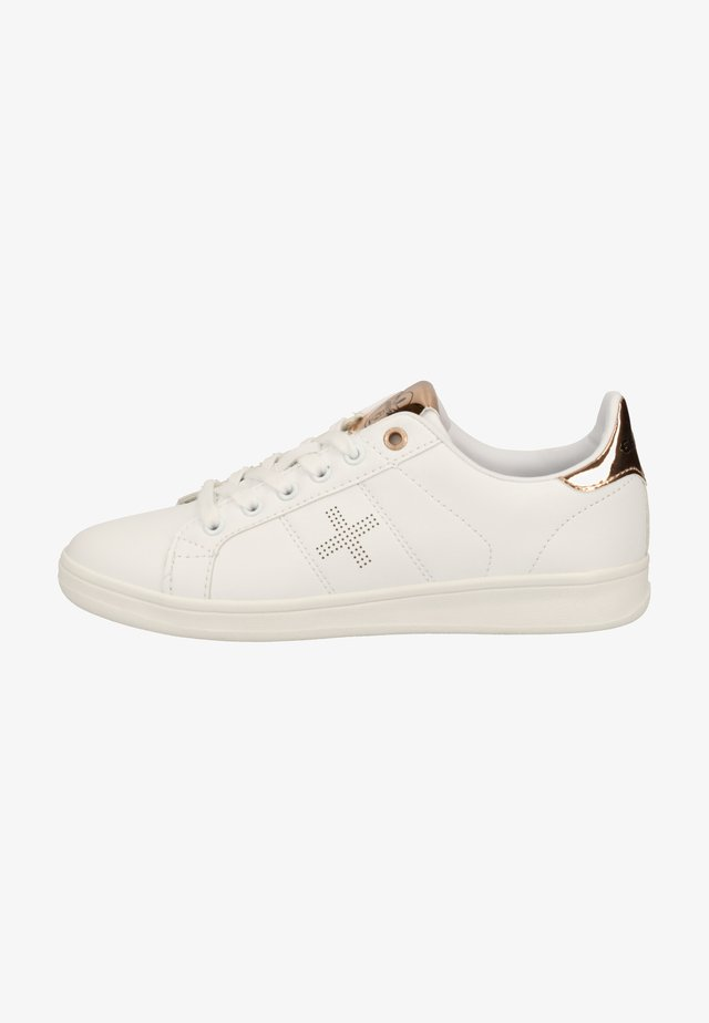 Sneakers laag - white/bronce
