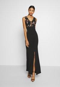 WAL G. - FLORAL MAXI DRESS - Vestido de fiesta - black - 1