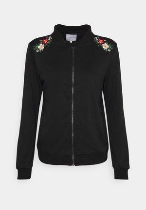 VIUKI FLOWER EMBROIDERY - Bomber Jacket - black