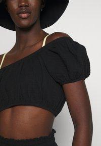 Cotton On Body - OFF THE SHOULDER LONGLINE SHORT SET - Beach accessory - black - 5