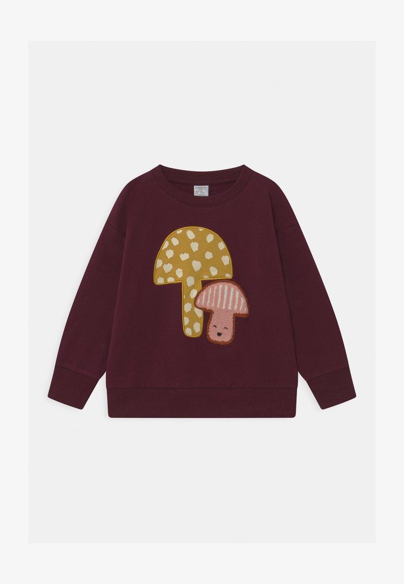 Lindex - KIDS MUSHROOM PLACED PRINT - Sweater - dark lilac