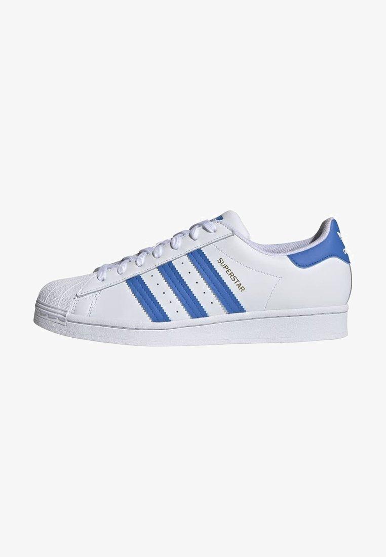 adidas Originals - SUPERSTAR UNISEX - Trainers - ftwr white/true blue/gold met.