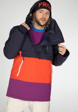 BACKFLIP - Snowboard jacket - purple, dark blue, orange