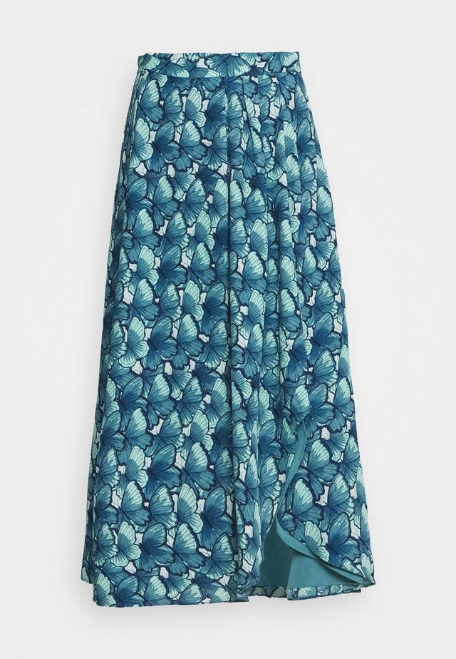 GEORGETTA SKIRT - A-line skirt - dusty blue/mint gree