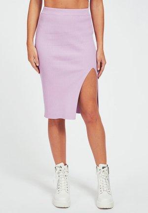 KOKERROK SPLIT - Pencil skirt - lila