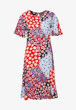 FLORAL SHORT SLEEVE EMPIRE SEAM MINI DRESS - Denní šaty - multi