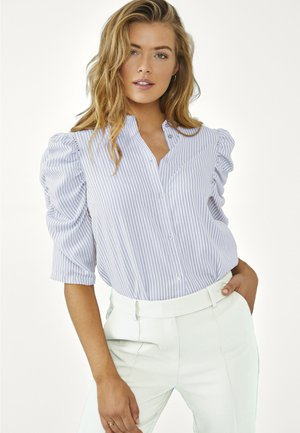 TACIANA - Button-down blouse - bright blue