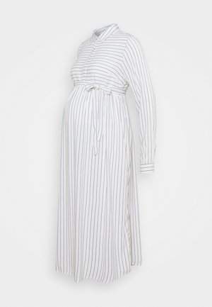 MLALANYA WOVEN MIDI DRESS  - Shirt dress - snow white/stripes in crown blue