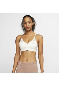 Nike Performance - NIKE INDY ICON CLASH WOMEN'S LIGHT-SUPPORT TOGGLE SPORTS BRA - Sports bra - pale ivory/shimmer/sapphire - 0