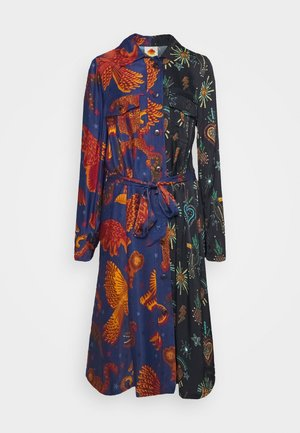 DARK JUNGLE SKY DRESS - Shirt dress - multi