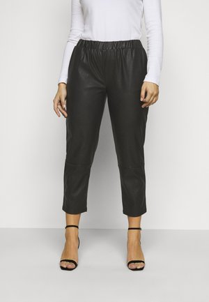 PCSALIMA CROPPED PANTS - Bukse - black