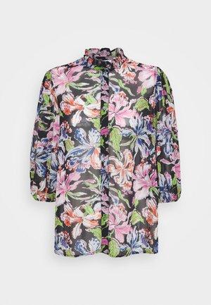 JEANET - Button-down blouse - black
