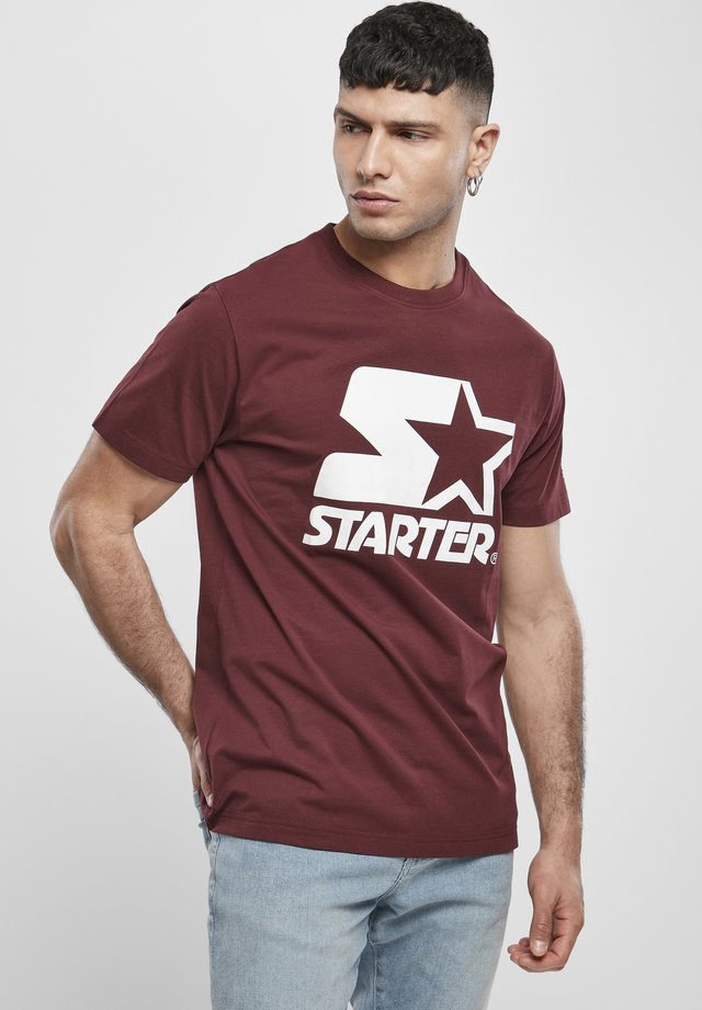 Print T-shirt - oxblood