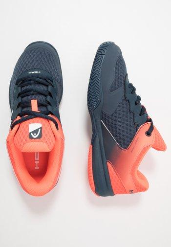 SPRINT 2.5 JUNIOR - Multicourt tennis shoes - midnight navy/neon red