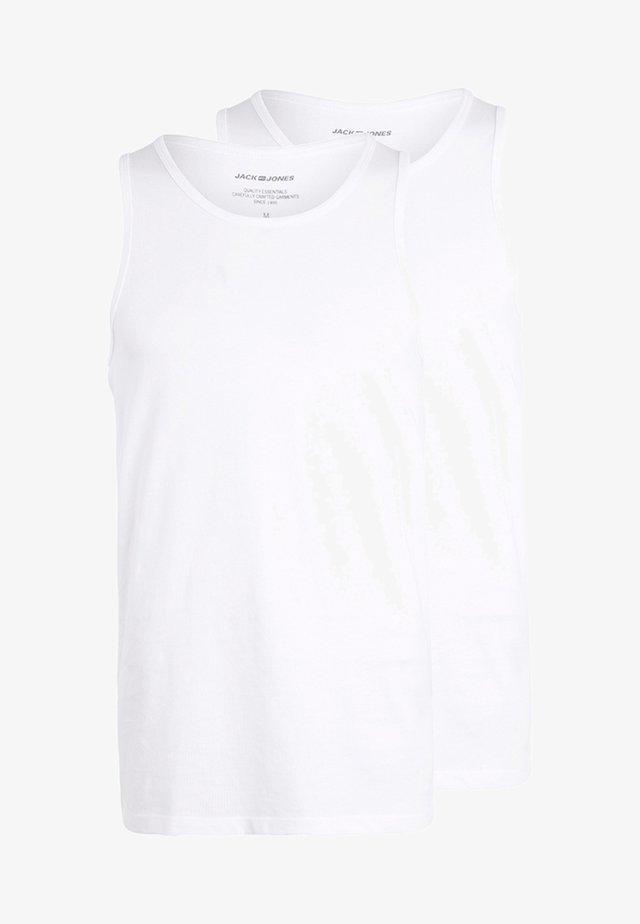 JACBASIC TANKTOP 2 PACK - Maglietta intima - white
