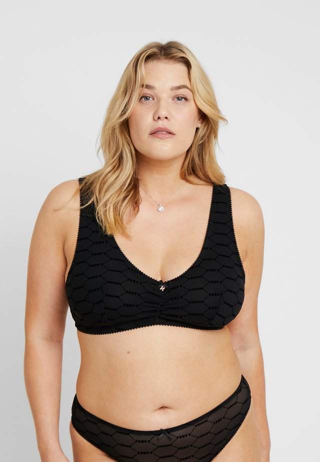 PLUS VNECK BRALETTE - Topp - black