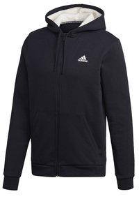 adidas Performance - WINTER 3-STRIPES FULL-ZIP HOODIE - Zip-up hoodie - black - 11