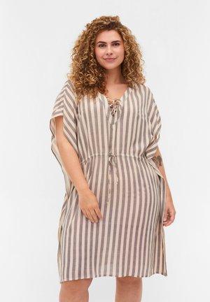 Day dress - sand striped