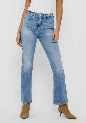 Flared Jeans - light medium blue denim