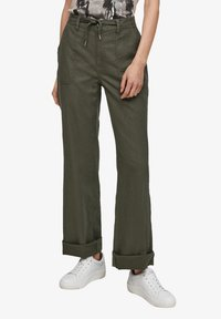 QS by s.Oliver - Trousers - khaki - 4