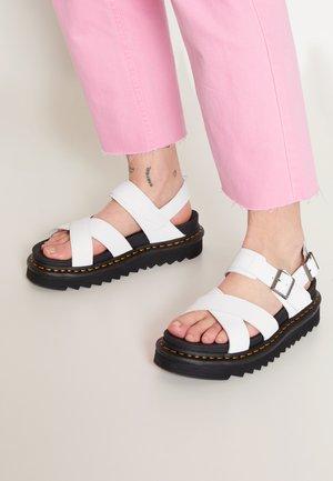 VOSS - Platform sandals - white hydro