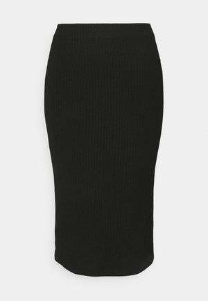 ONLNELLA  SLIT SKIRT - Pencil skirt - black