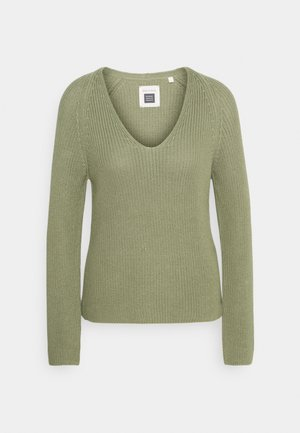 LONG SLEEVE - Strickpullover - dried sage