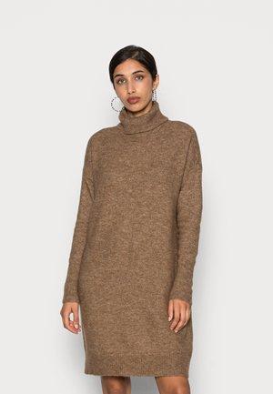 VMKATIE ROLLNECK DRESS - Jumper dress - sepia tint melange