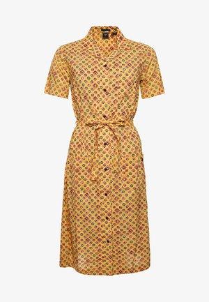 Shirt dress - yellow print