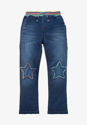STERNAUFNÄHER AM KNIE - Slim fit jeans - dunkles vintageblau
