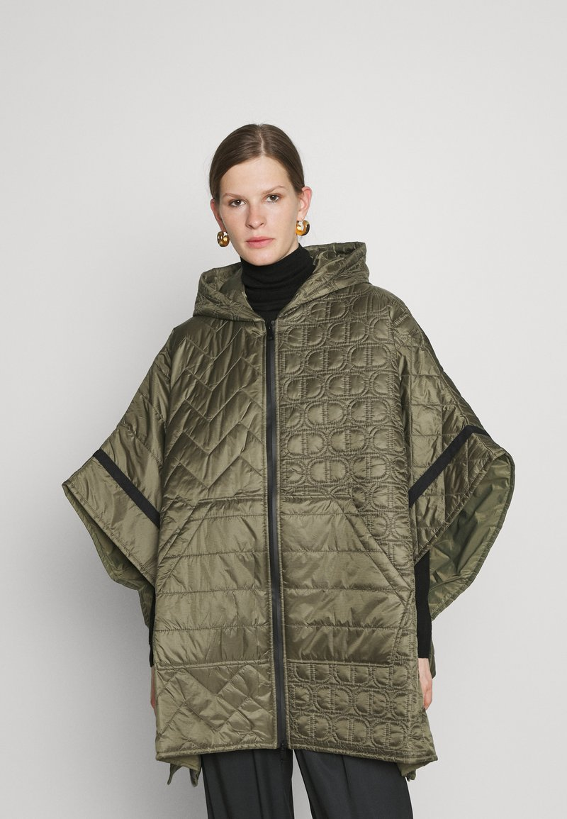 TWINSET - MANTELLA IMBOTTITA MIX TRAPUNTE - Winter coat - verde alpino